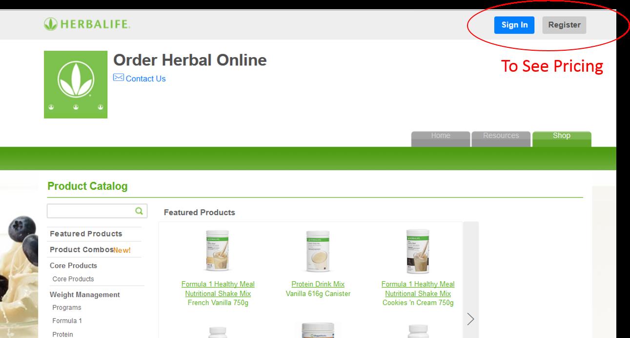 Herbalife Prices | Online Shopping | OrderHerbalOnline