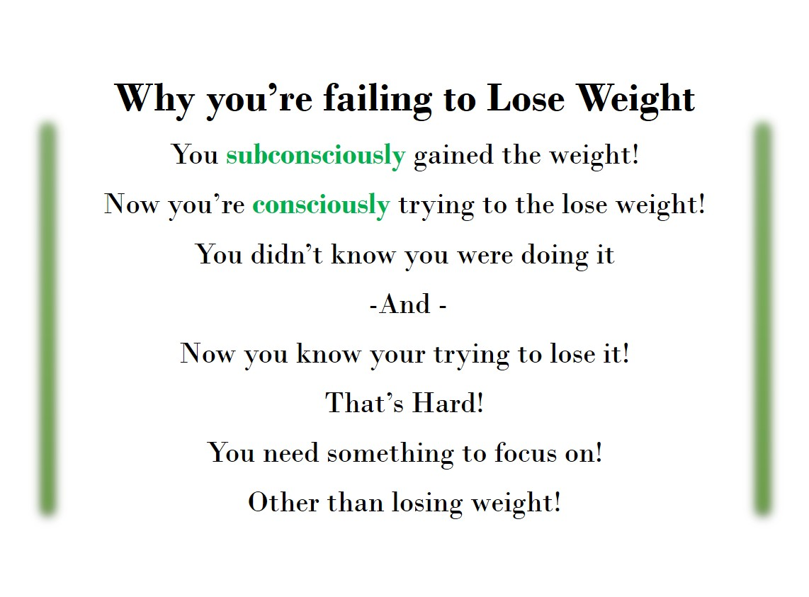 Failing to Lose Weight